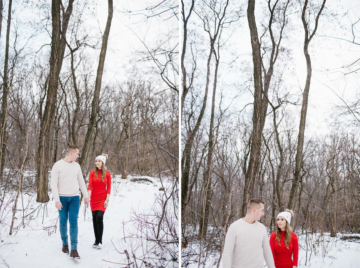 sesja poslubna zimowa fotograf slubny maria kania