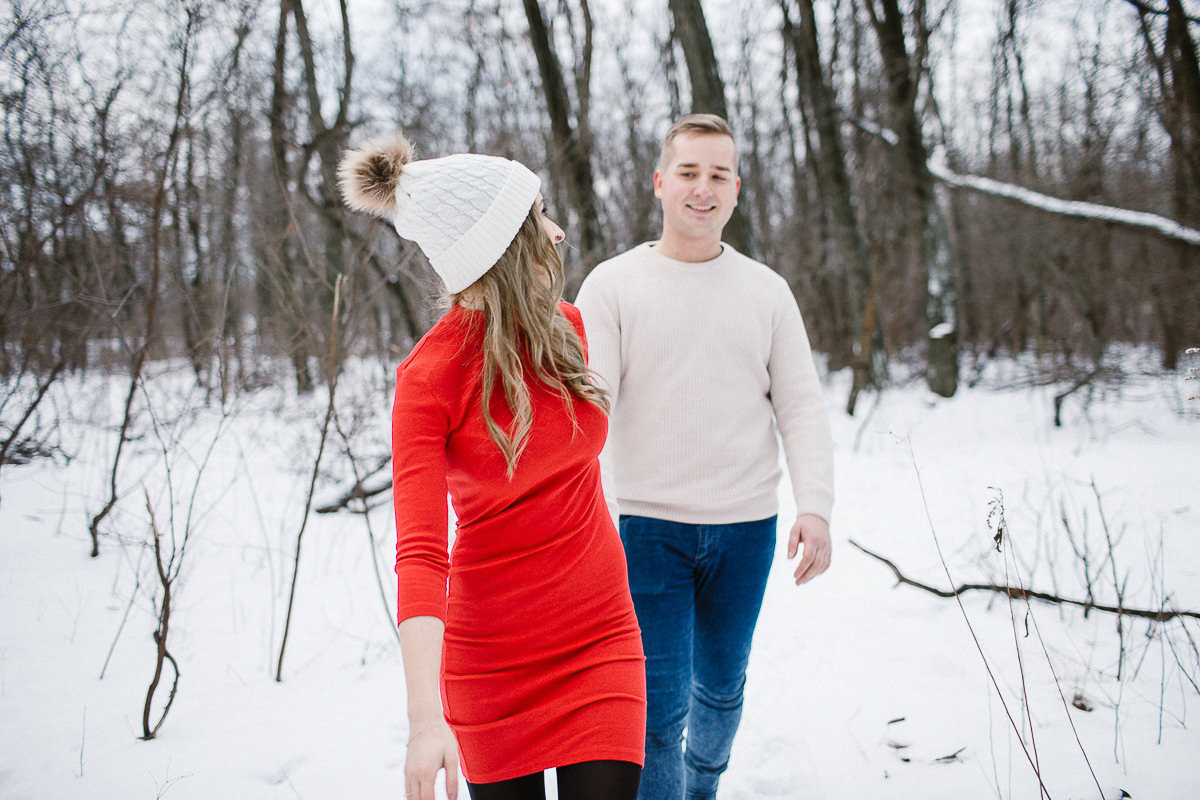 sesja zimowa poslubna fotograf slubny maria kania